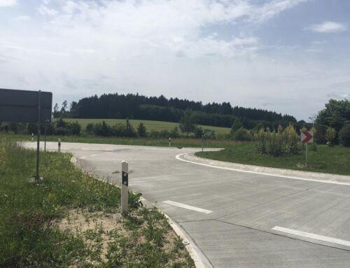 FDE Liptingen B 14, Sanierung Kreisverkehr in Betonbauweise